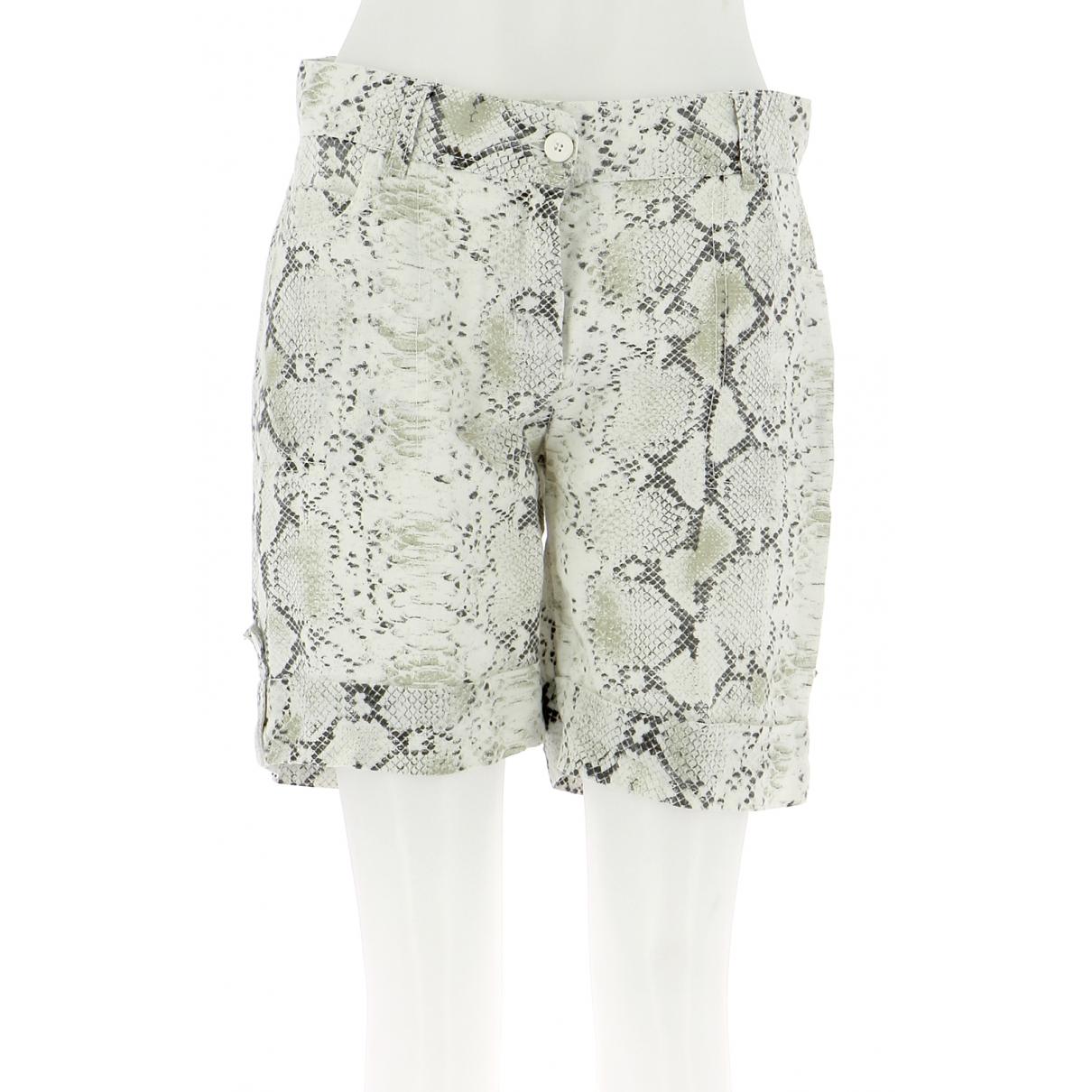 Autre Marque \N White Cotton Shorts for Women 40 FR