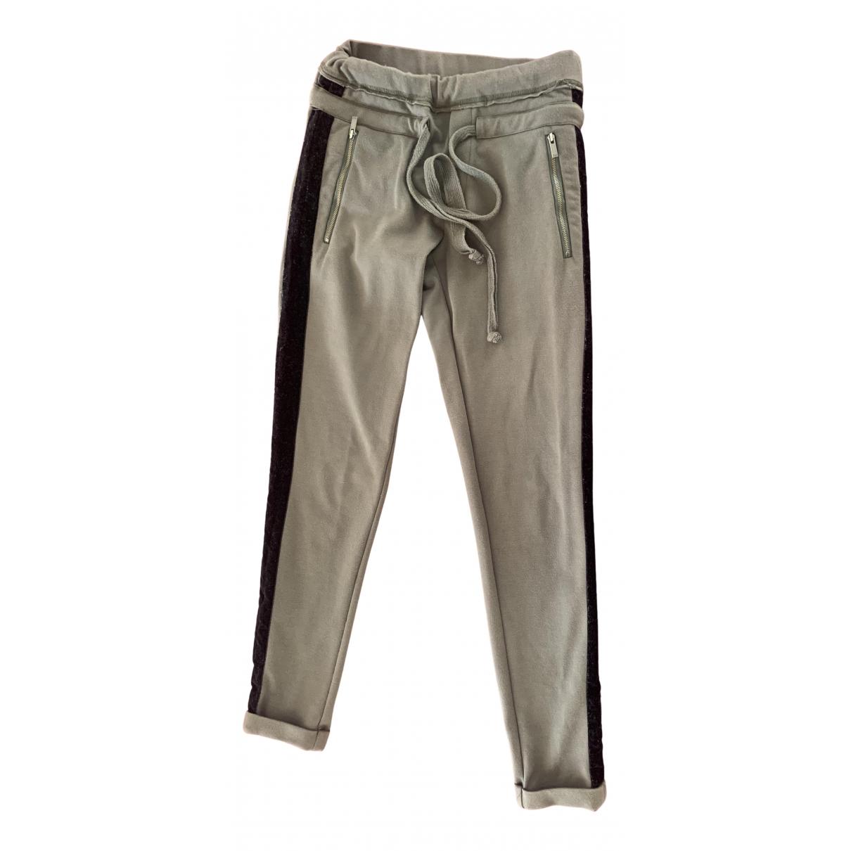 The Kooples Fall Winter 2019 Khaki Cotton Trousers for Women 38 FR