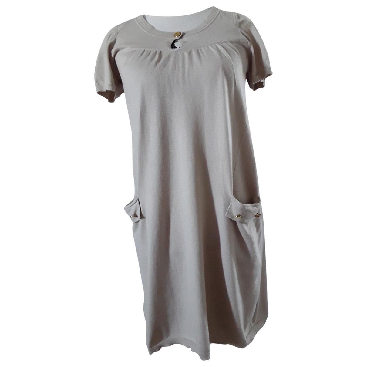Maje - Robe   pour femme en cachemire - beige