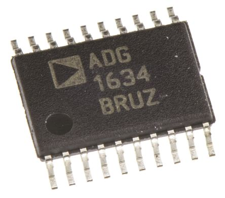 Analog Devices ADG1634BRUZ , Analogue Switch Quad SPDT, 12 V, 16-Pin TSSOP