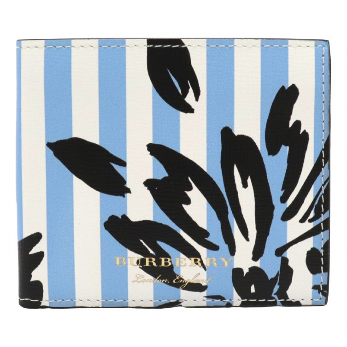Burberry \N Blue Leather wallet for Women \N