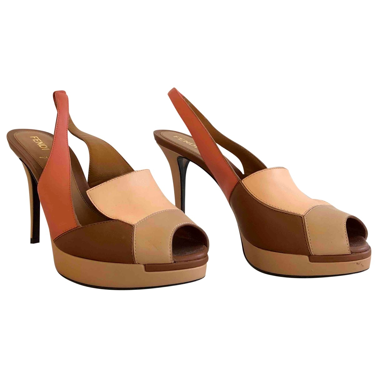 Fendi \N Beige Leather Heels for Women 36 EU