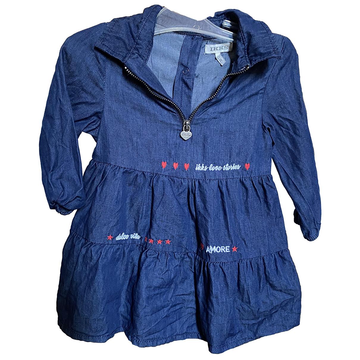 Ikks \N Kleid in  Blau Polyester
