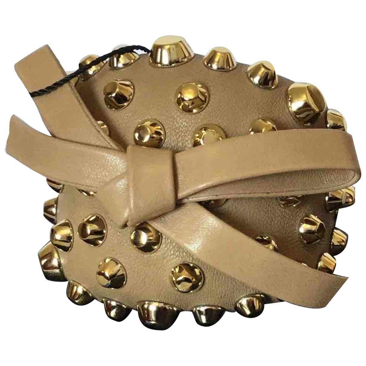 Prada - Bracelet   pour femme en cuir - camel