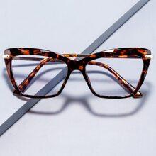 Maenner Katzenaugen-Sonnenbrille mit Schildpatt Muster Rahmen