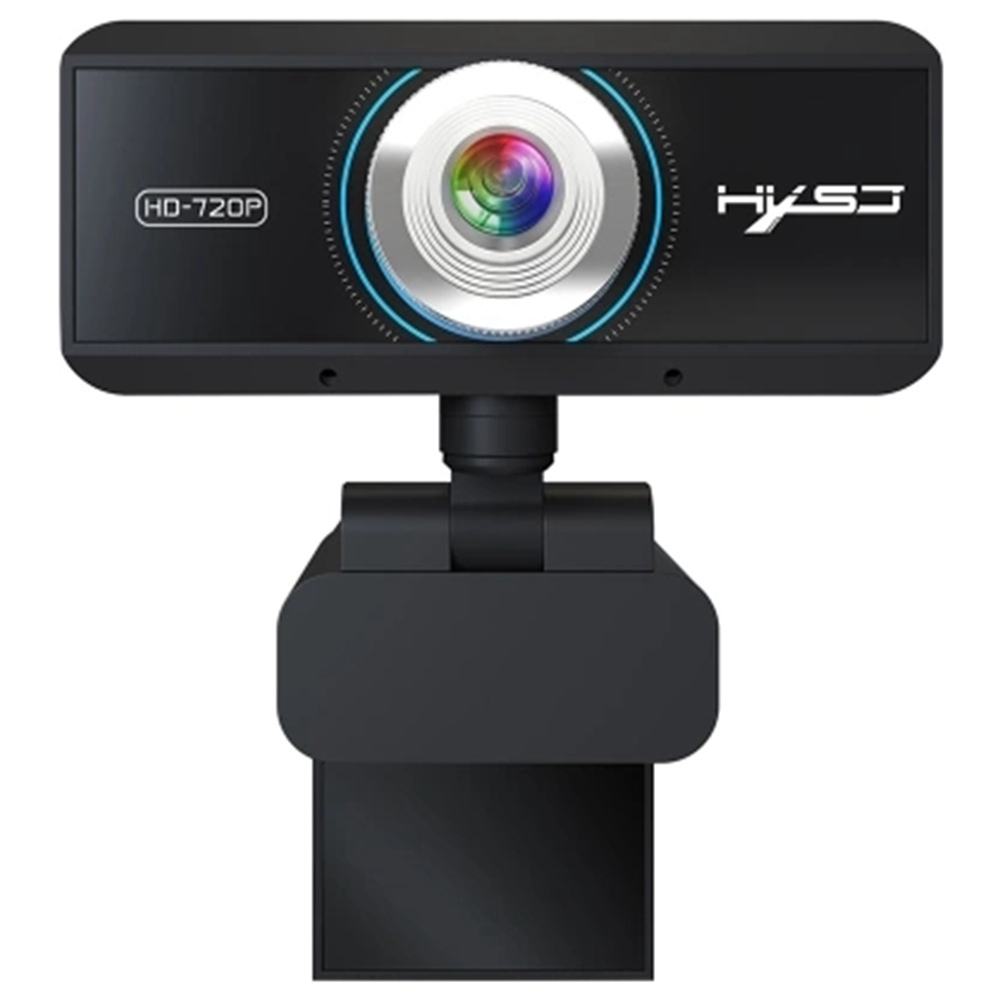 HXSJ S90 720P HD Webcam For Laptop Desktop TV Black