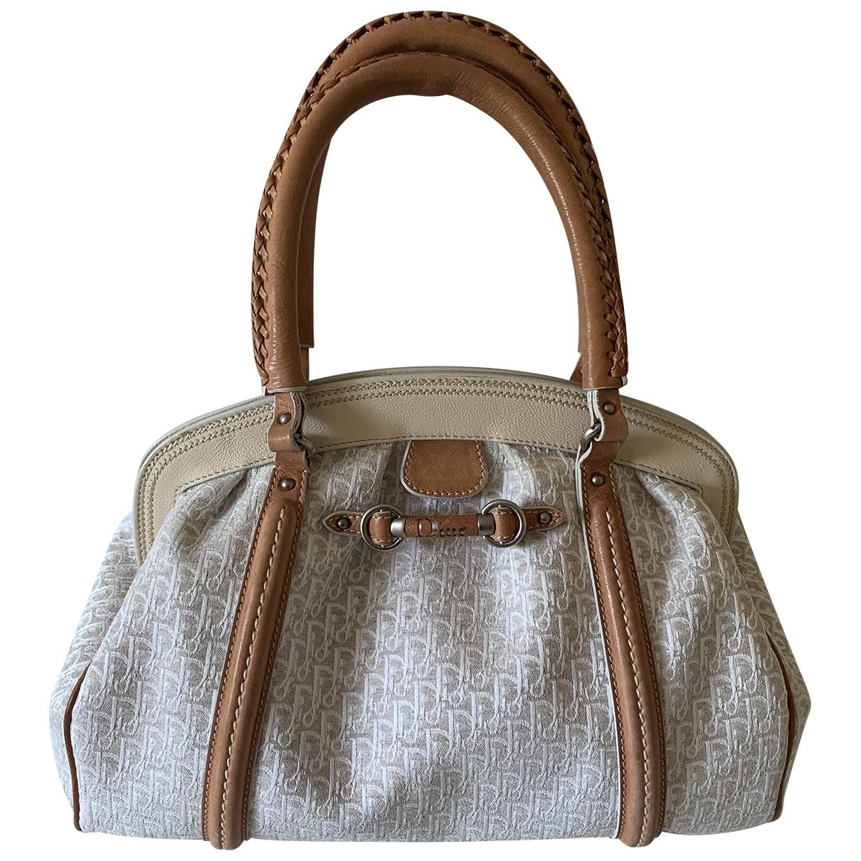 Dior \N Handtasche in  Weiss Leinen