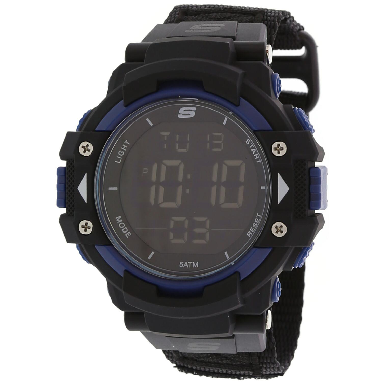 Skechers Watch SR1035 Keats Sport Digital Display, 24 Hour Time, Back Light, Chronograph, Alarm Black