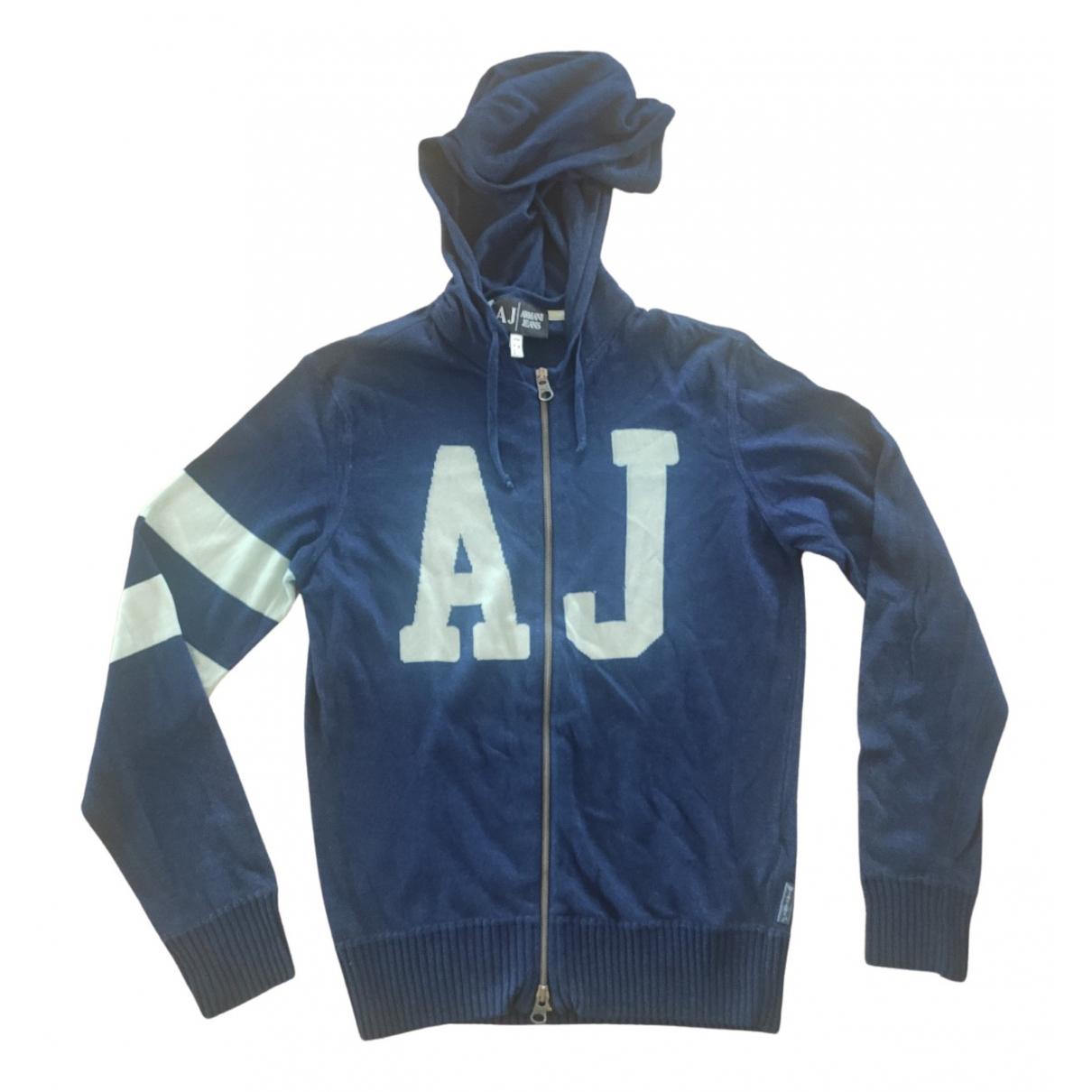 Armani Jeans N Blue Cotton Knitwear & Sweatshirts for Men M International