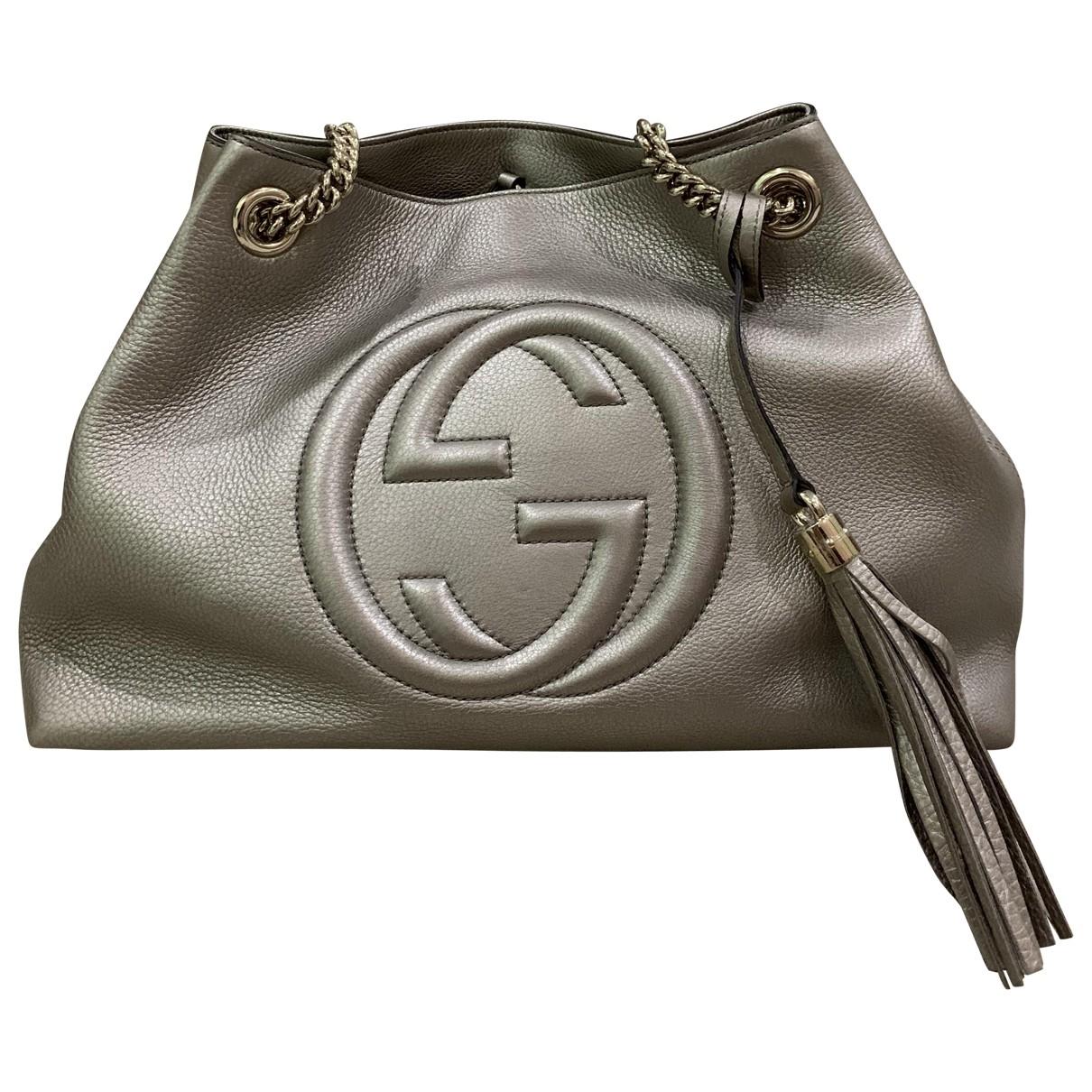 Gucci Soho Metallic Leather handbag for Women \N