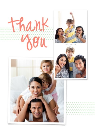 Thank You Cards 5x7 Cards, Premium Cardstock 120lb with Rounded Corners, Card & Stationery -Polka Dot Thank You