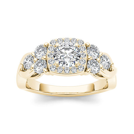 1 1/2 CT. T.W. Diamond 14K Yellow Gold Engagement Ring, 9 , No Color Family