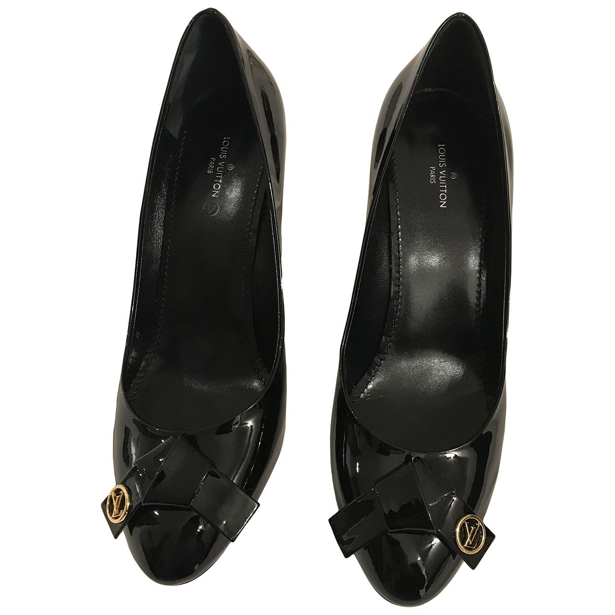 Louis Vuitton \N Black Patent leather Heels for Women 37 EU