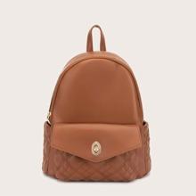 Turn-Lock Pocket Front Backpack