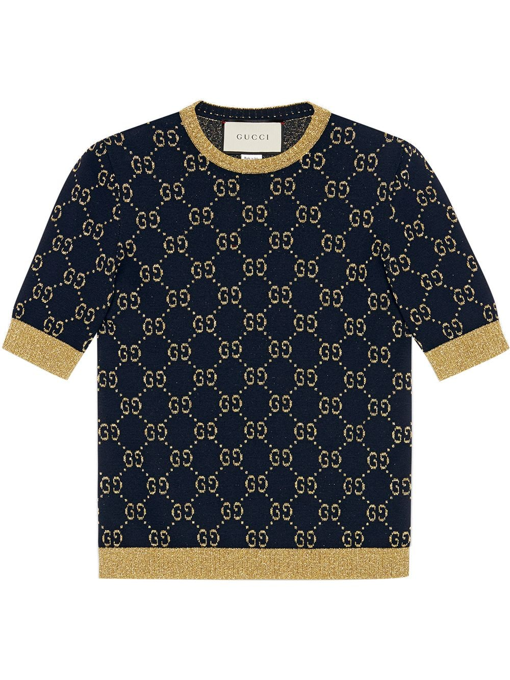 Gg Wool Crewneck Top