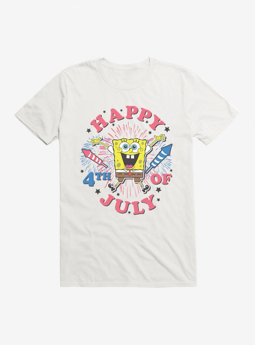 SpongeBob SquarePants Fourth Of July Fireworks T-Shirt