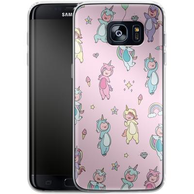 Samsung Galaxy S7 Edge Silikon Handyhuelle - Piggy Unicorns von Chan-chan