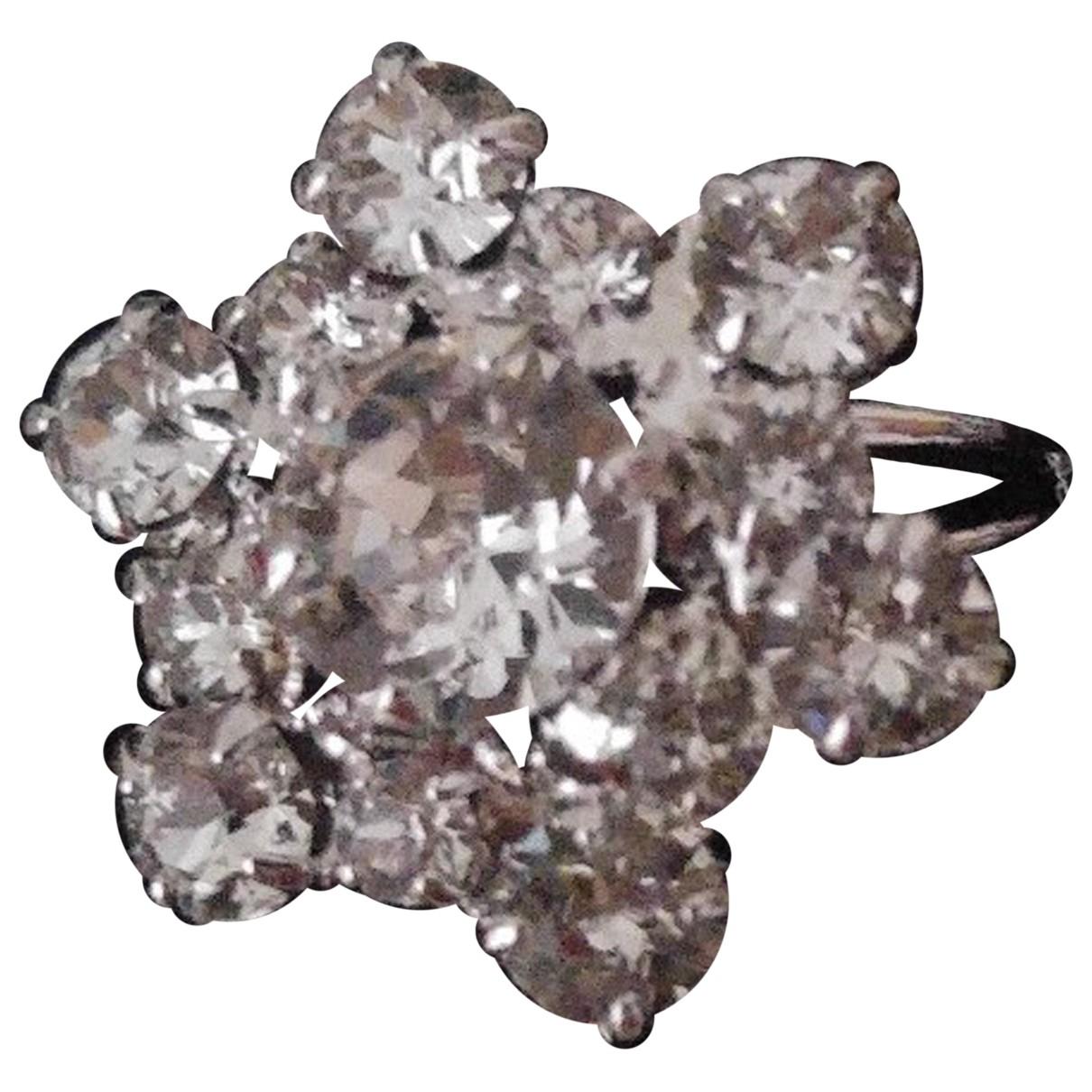 Swarovski \N Ring in  Weiss Metall