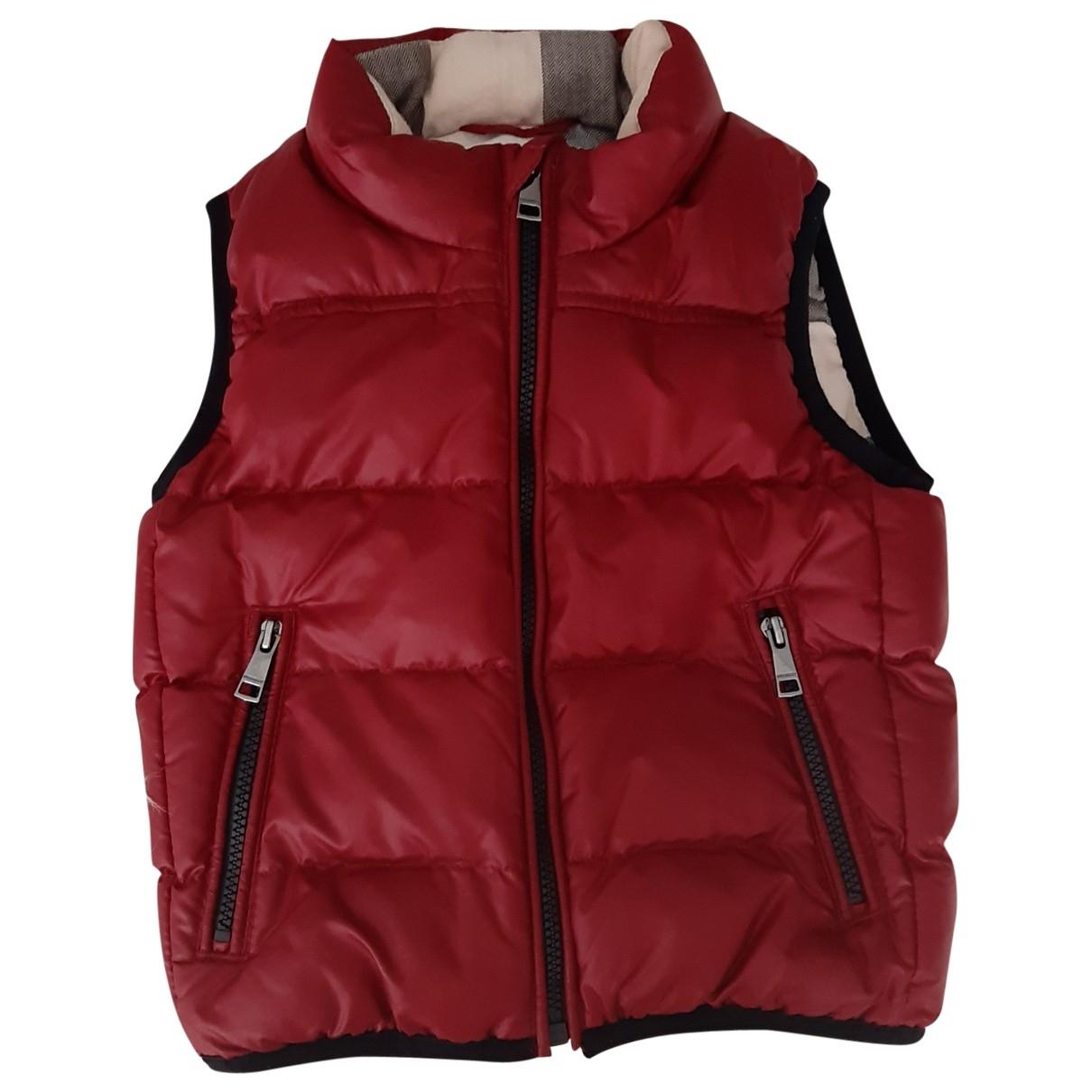 Burberry \N Burgundy Cotton jacket & coat for Kids 9 months - up to 71cm FR