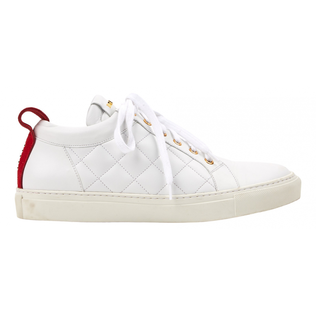 Balmain \N Sneakers in  Weiss Leder