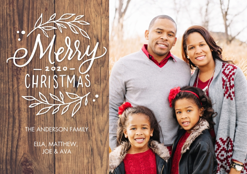 Christmas Photo Cards 5x7 Cards, Standard Cardstock 85lb, Card & Stationery -Christmas 2020 Foliage by Tumbalina