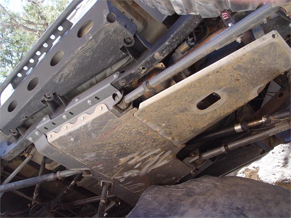 Jeep TJ Transfer Skid Plate Heavy Duty Bare Aluminum 97-06 Wrangler TJ/LJ TNT Customs TSKEA