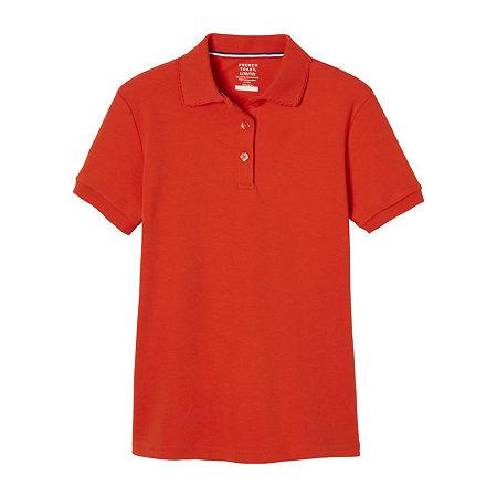 French Toast Big Girls Short Sleeve Polo Shirt, Xx-large , Orange