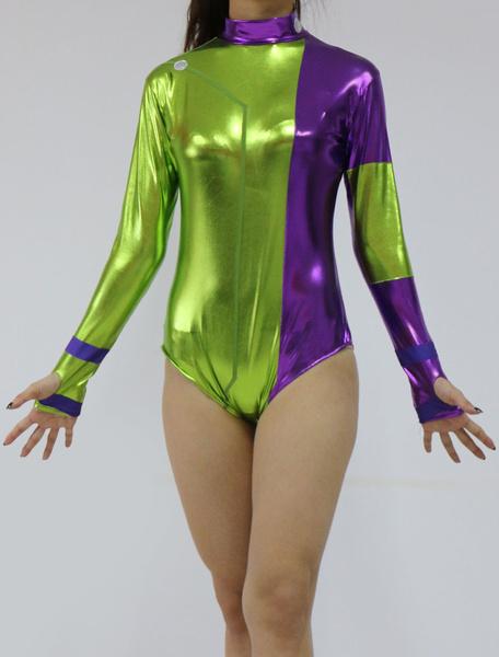 Milanoo Disfraz Halloween Disfraz Cosplay de color split fibra de poliester para adultos  Halloween