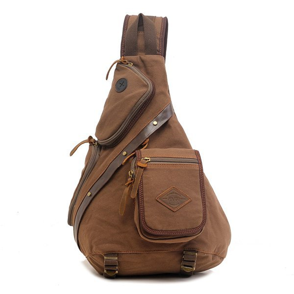 Men Women Canvas Retro Casual Outdoor Shoulder Chest Crossbody Bag