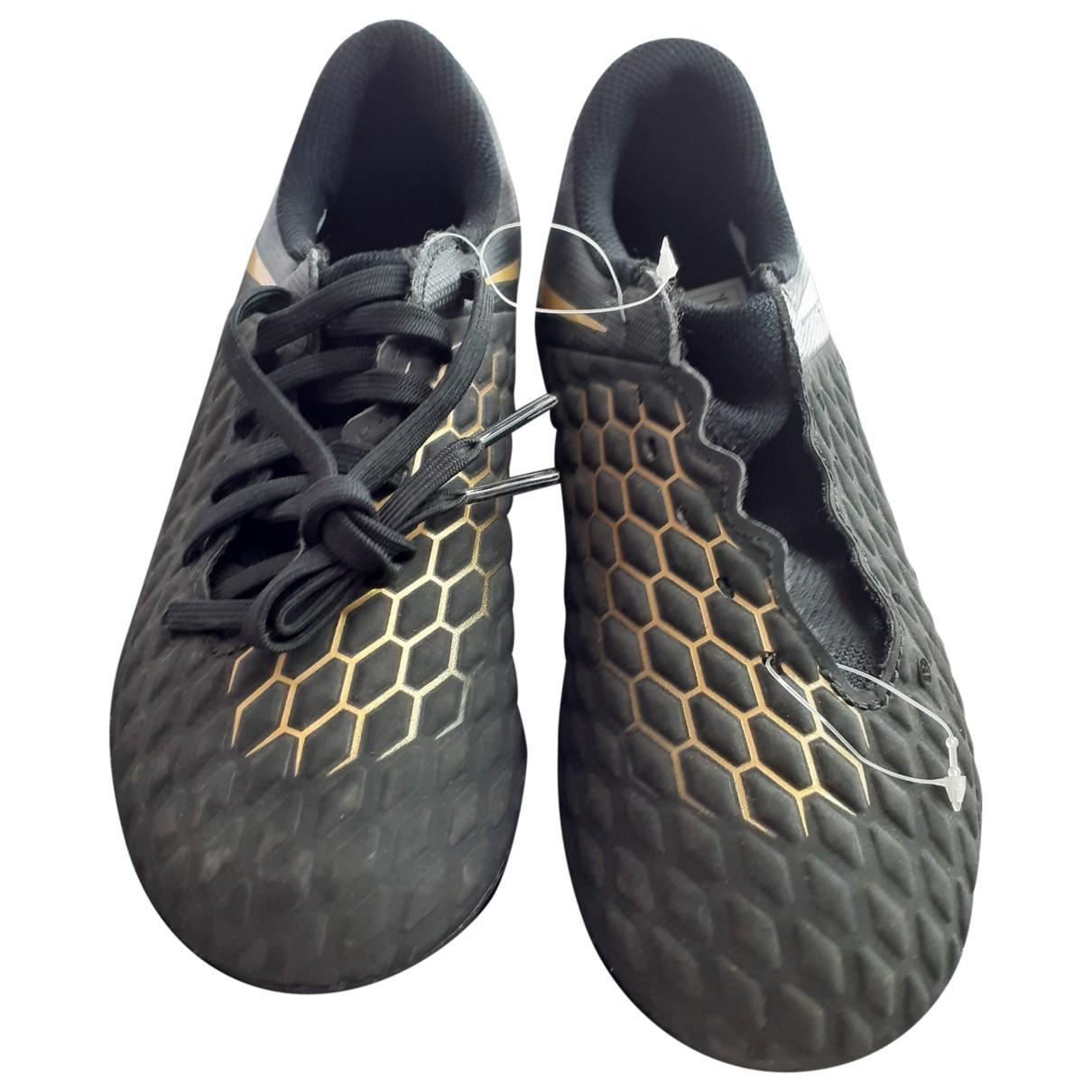 Nike - Bottes.Bottines   pour enfant en cuir - noir
