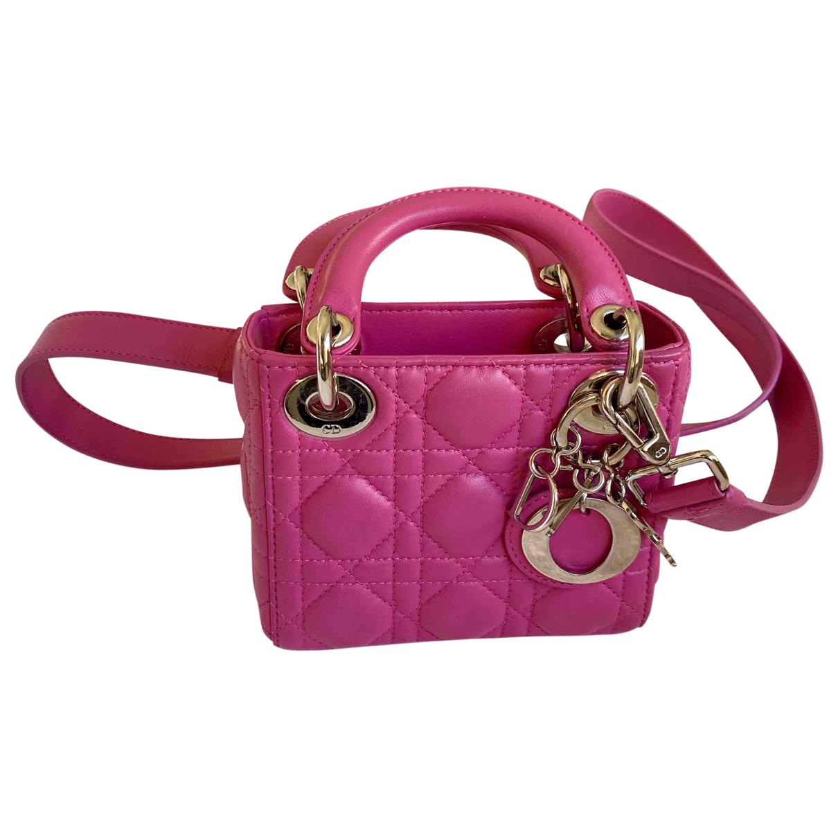 Dior Lady Dior Handtasche in  Rosa Leder