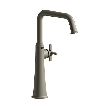 Momenti MMSQL01+BN Single Hole Lavatory Faucet with + Cross Handle 1.5 GPM  in Brushed