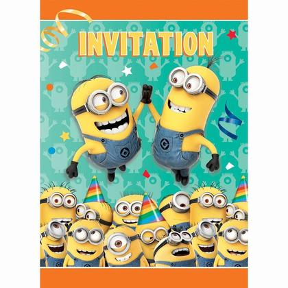Despicable Me Minions Invitations Party 8Pcs Pour la fête d'anniversaire