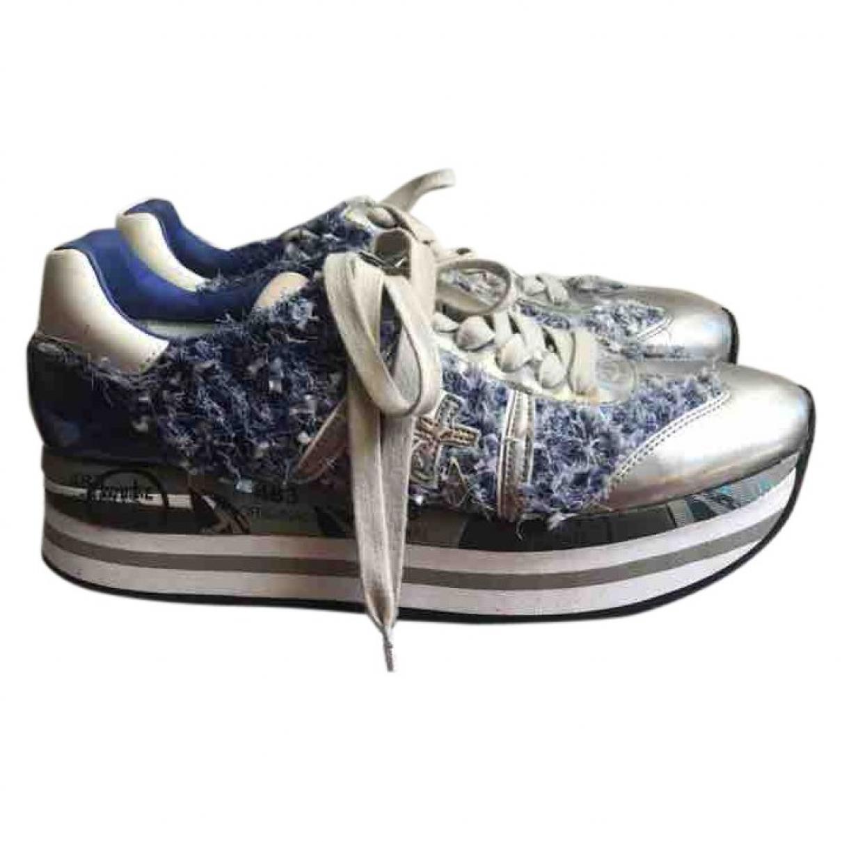 Premiata \N Sneakers in  Blau Tweed