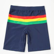 Boys Colorful Stripe Swim Shorts
