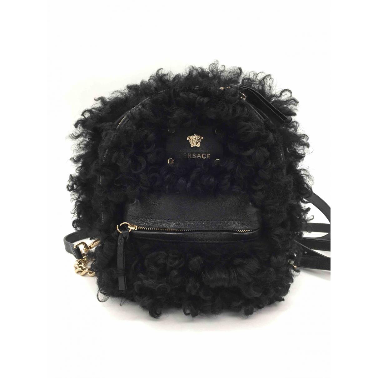 Versace \N Rucksaecke in  Schwarz Leder