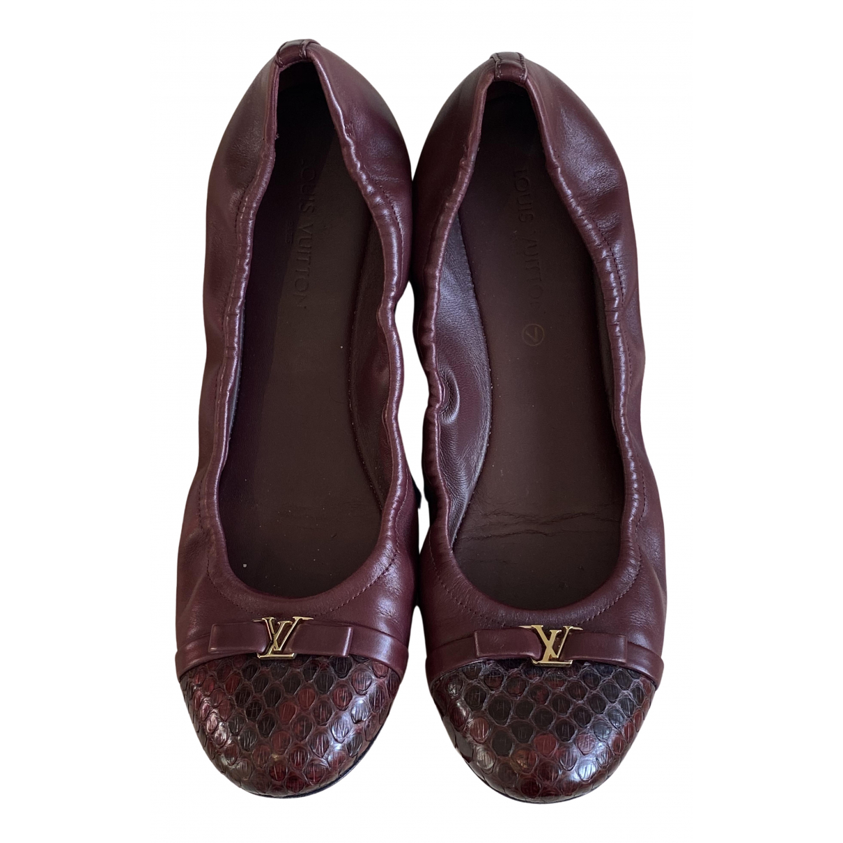 Louis Vuitton - Ballerines   pour femme en cuir - bordeaux