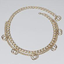 Layered Waist Chain Belt