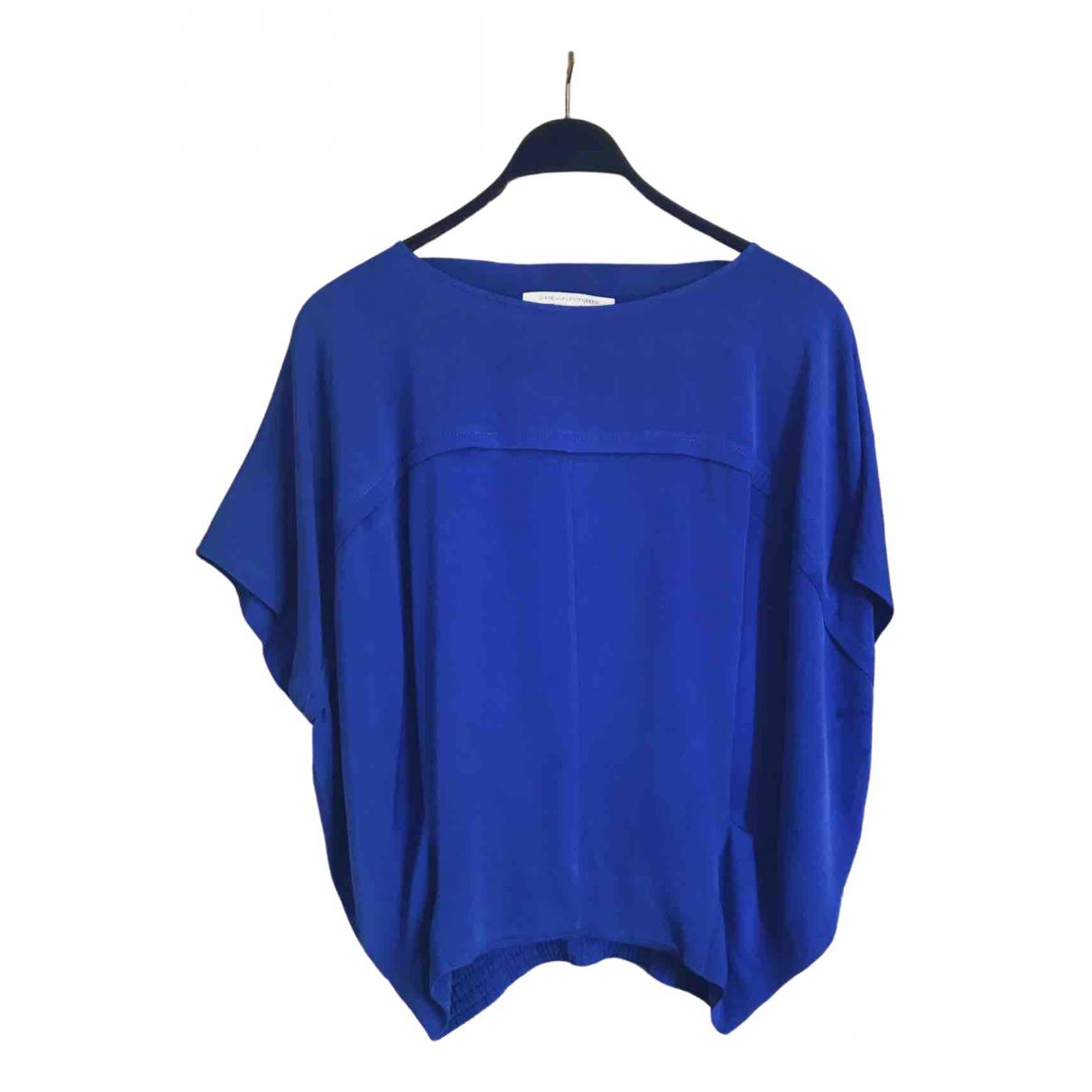 Diane Von Furstenberg N Blue Silk  top for Women 36 FR