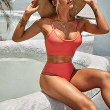 Plain Bikini Swimsuit