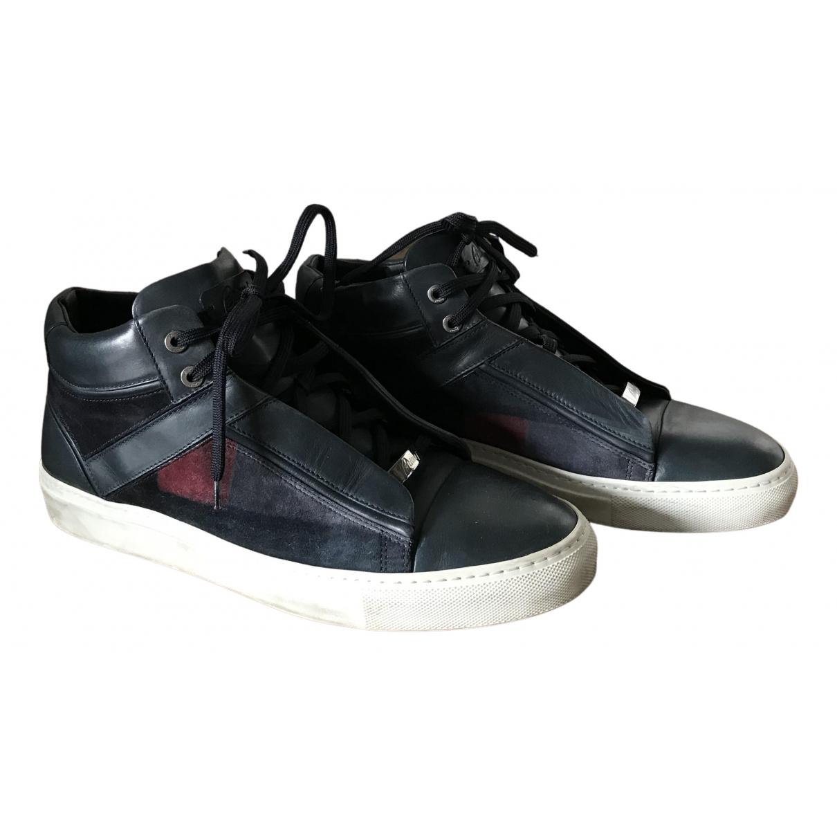 Brioni \N Sneakers in  Blau Leder