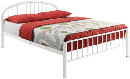 Cailyn Collection 30460TWH Twin Size Bed with Slat System Included  Curved Headboard  Low Profile Rectangular Footboard and Metal Tube Material in