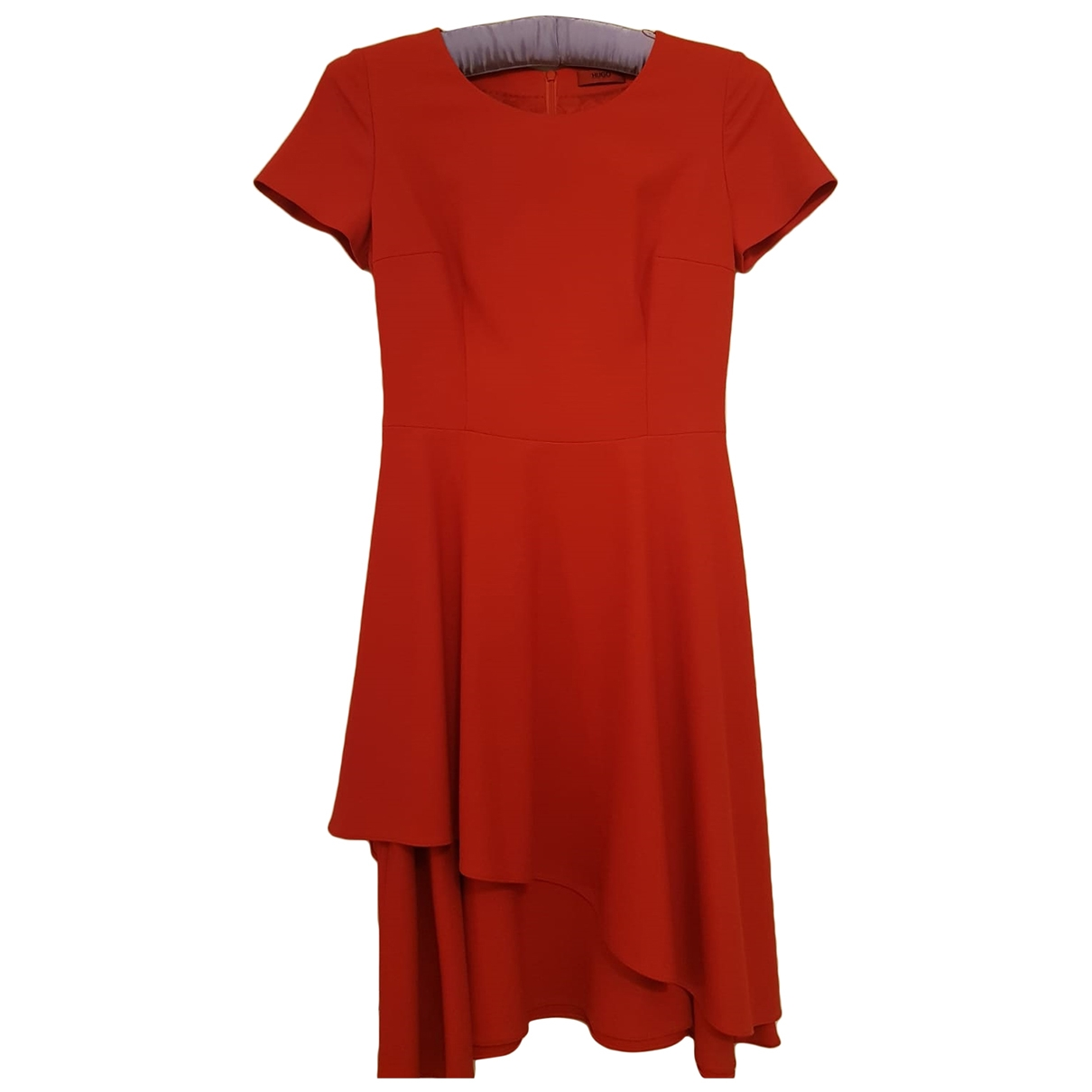 Hugo Boss \N Red Cotton - elasthane dress for Women 6 UK