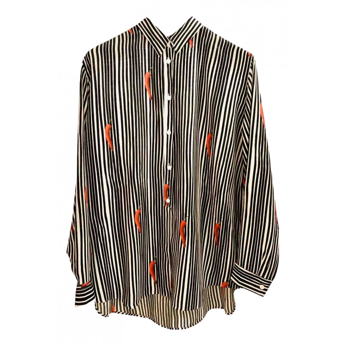 Paul Smith - Pull   pour femme en soie - multicolore