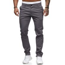 Pantalones de pierna recta con bolsillo con solapa