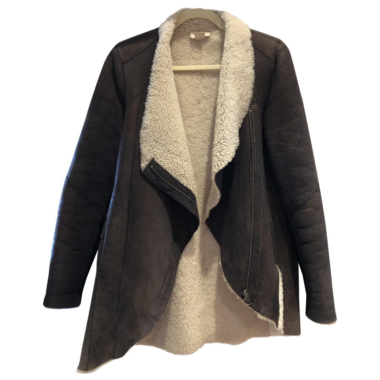 Helmut Lang \N Brown Suede coat for Women M International