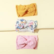 3pcs Toddler Girls Bow Decor Headband