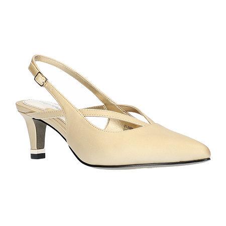 Easy Street Womens Symphony Pumps Spike Heel, 8 1/2 Wide, Yellow