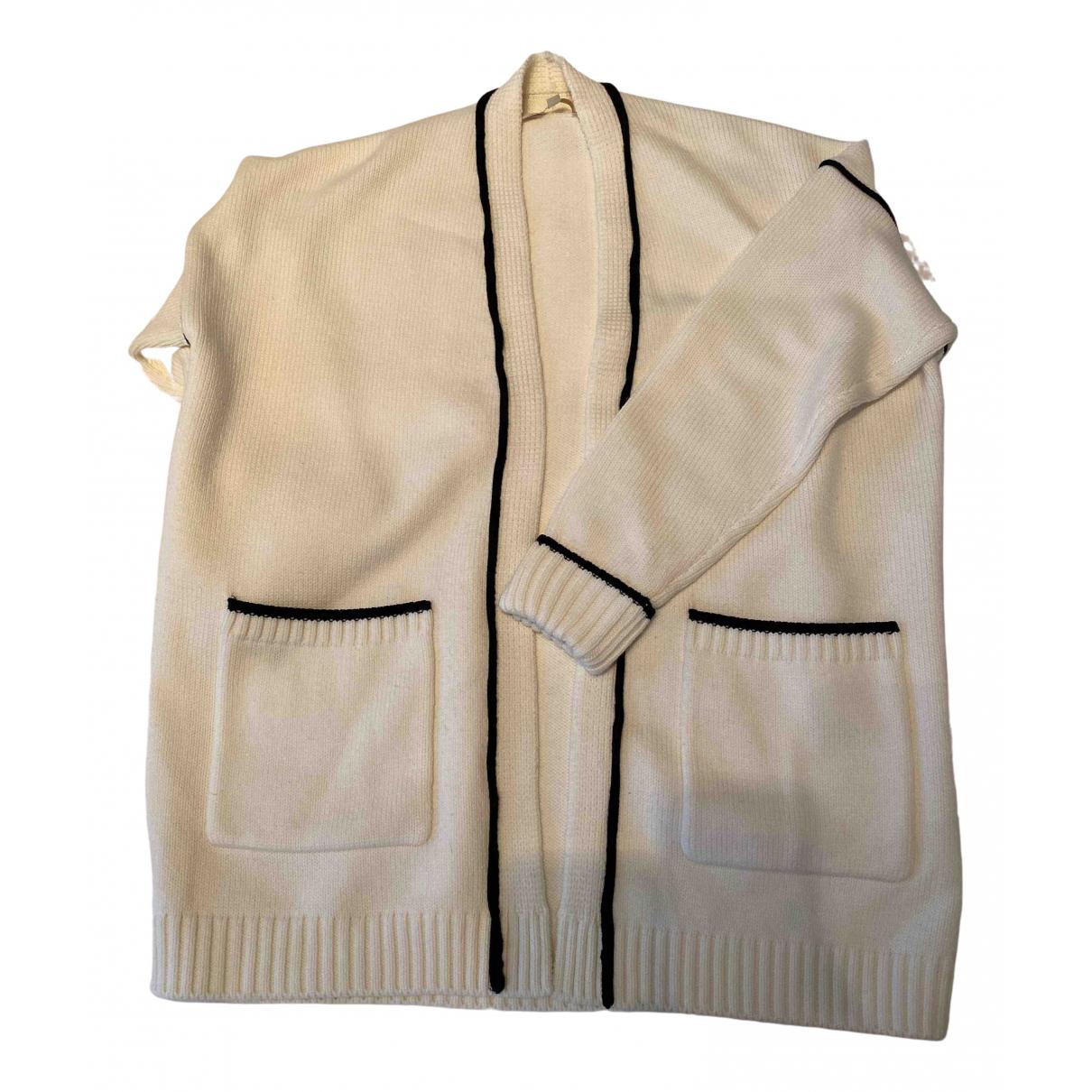 Maje - Pull Fall Winter 2019 pour femme en laine - blanc