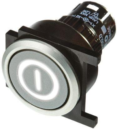 EAO Modular Switch Body, IP65, Silver, Panel Mount, Latching -25°C +55°C